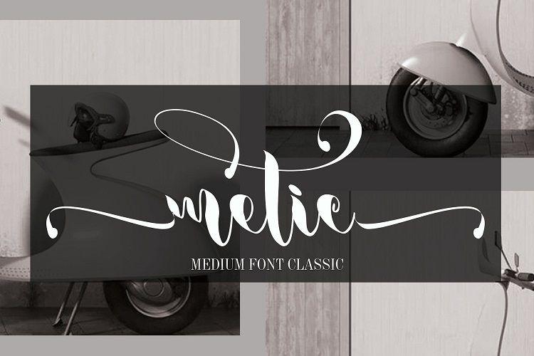 Metic Calligraphy Font