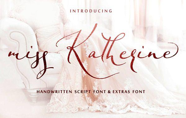 Miss Katherine Script Font - Dafont Free