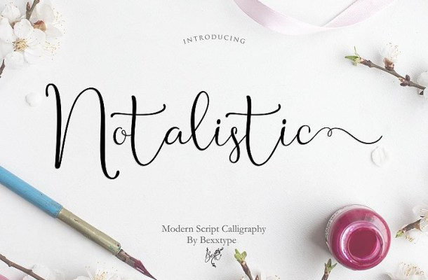 Notalistic Script Font