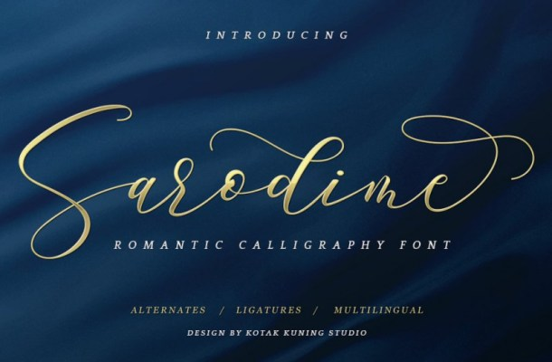 Sarodime Script Font
