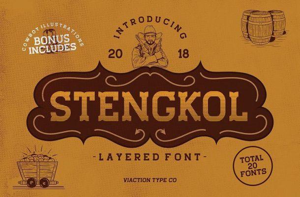 Stengkol Font Family