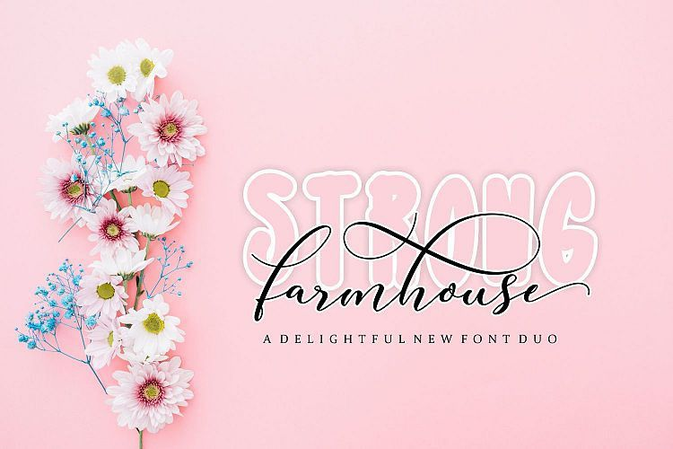 Strong Farmhouse Font Duo - Dafont Free
