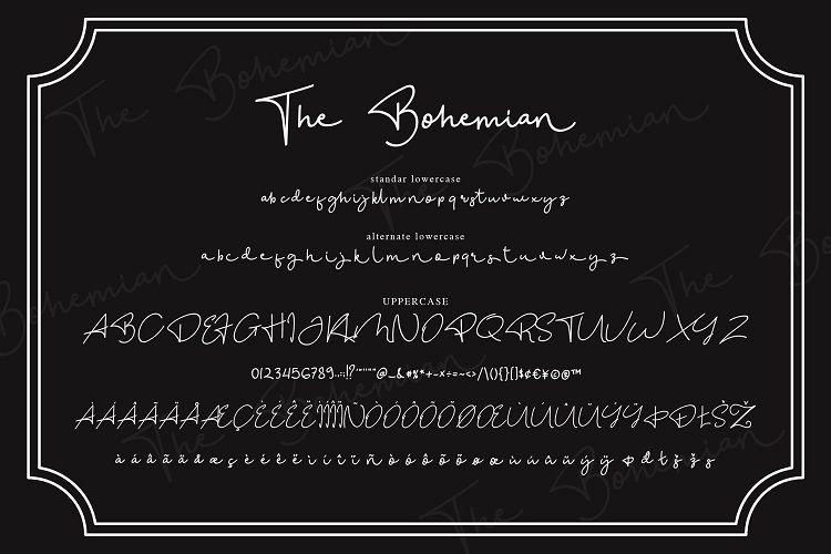 The Bohemian Signature Font-3