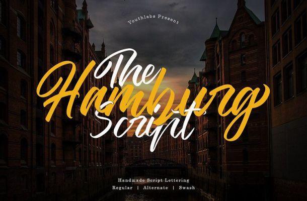 The Hamburg Script Font