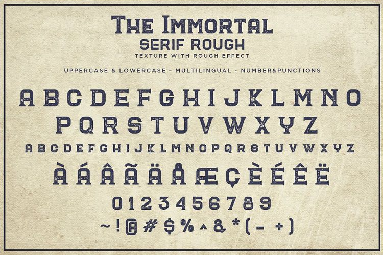 The Immortal Vintage Font-2