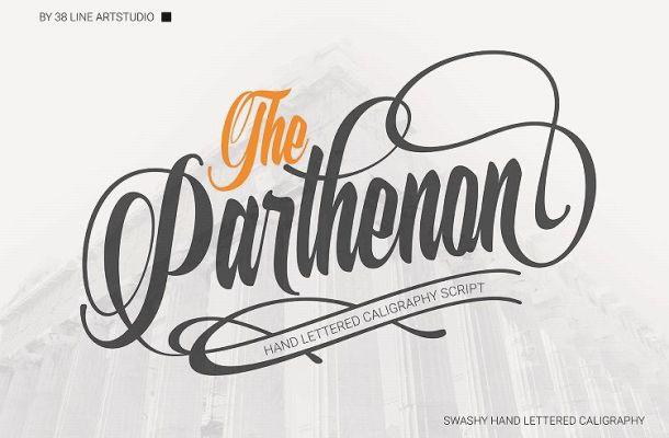The Parthenon Script Font
