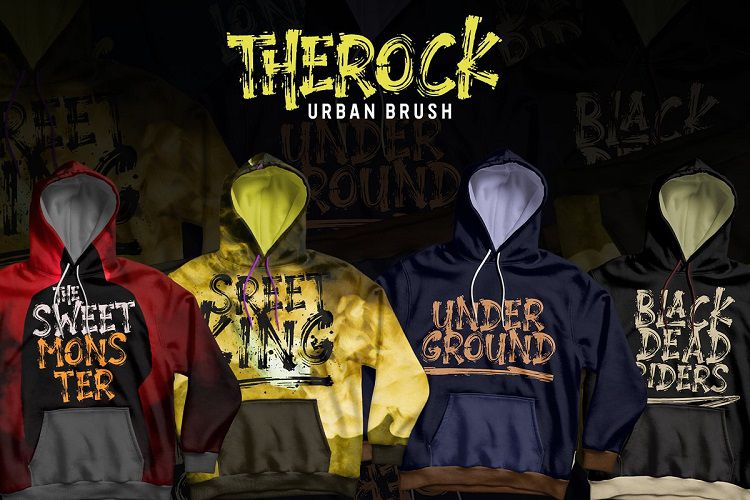Therock Urban Brush Font-3