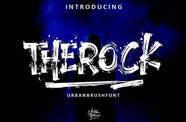 Therock Urban Brush Font