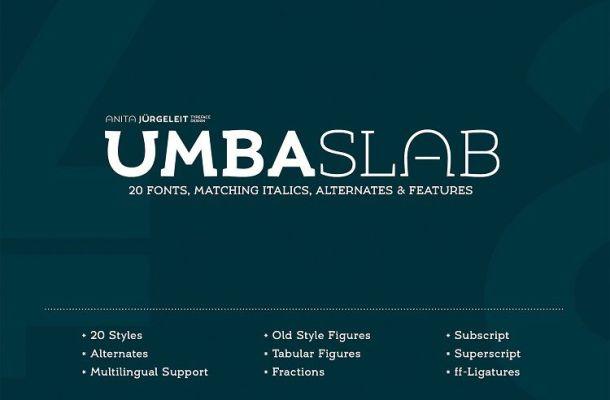 Umba Slab Font Family