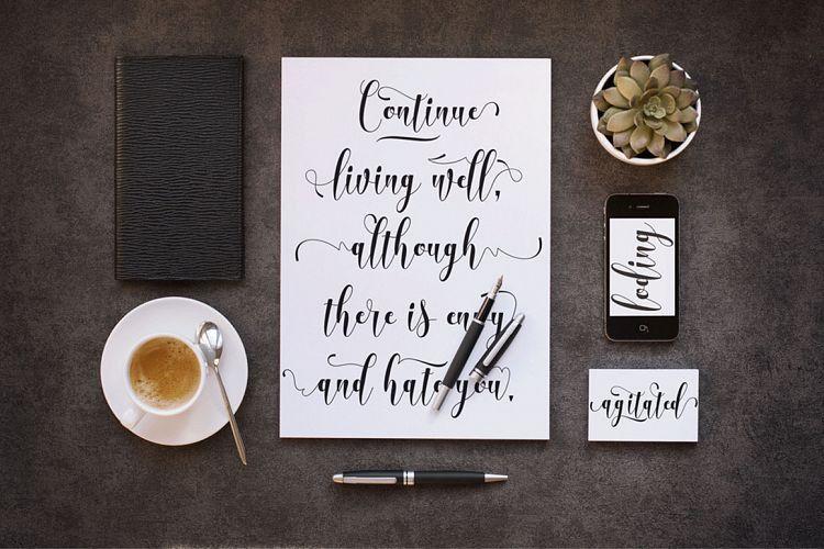 Advantages Calligraphy Font-3