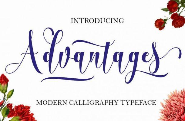 Advantages Calligraphy Font