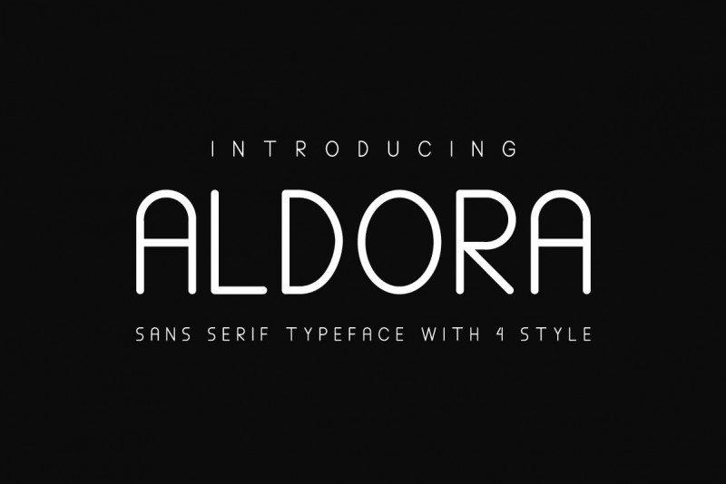 Aldora Futuristic Font