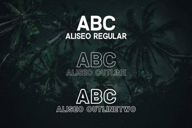 Aliseo Font Family-2