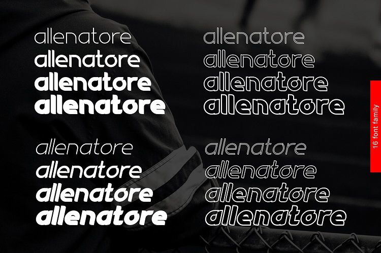 Allenatore Font Family-2