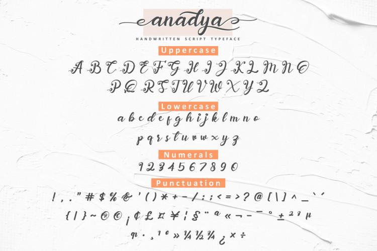 Anadya Handwritten Script Font-3