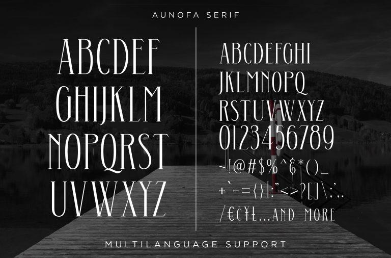 Aunofa Serif Font-3