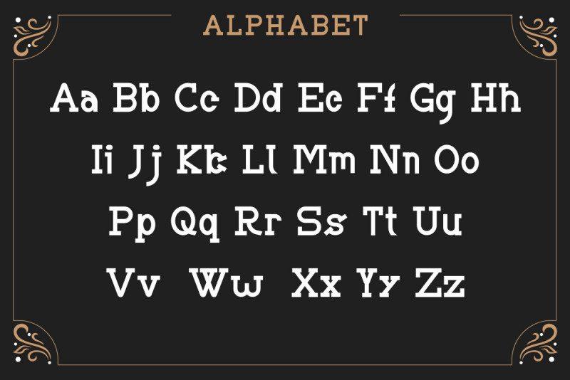 BRIAN WORTH Vintage Font-2