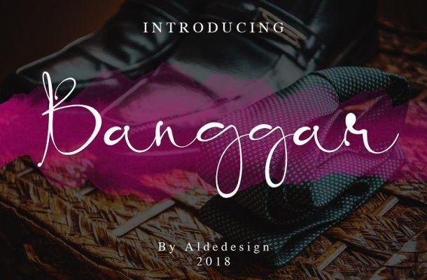 Banggar Script Font