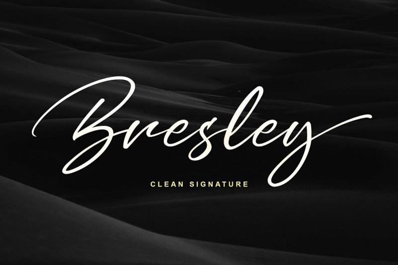 Bresley Clean Signature Font