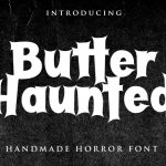 Butter Haunted Display Font