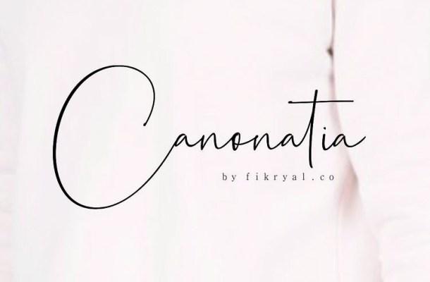 Canonatia Handwritten Font