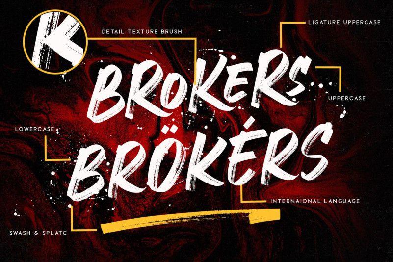Crackers Brusher Font-3