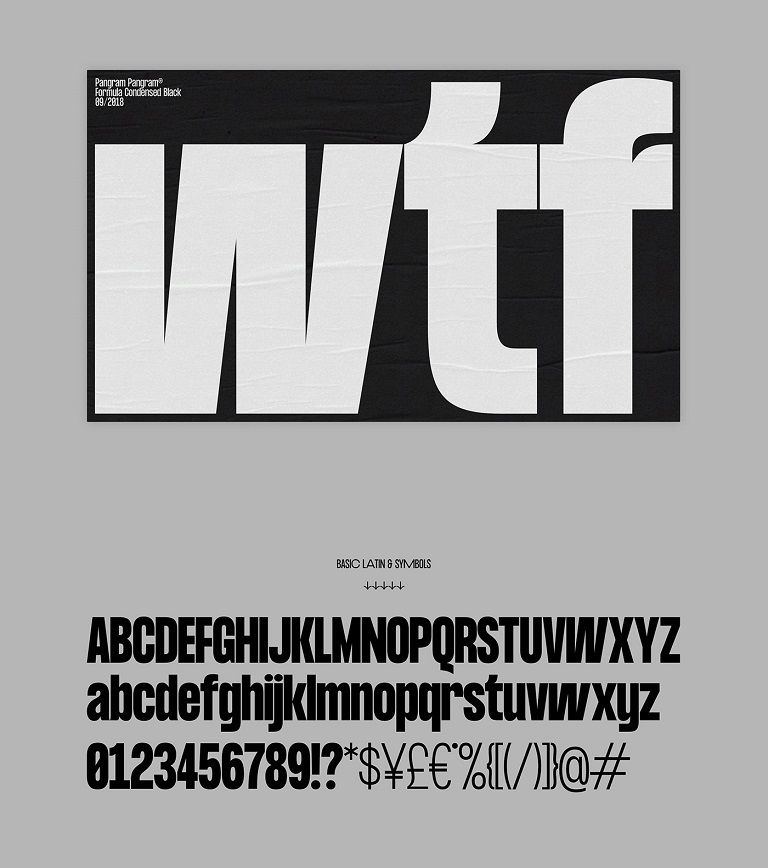 Formula Consensed Font Family-3