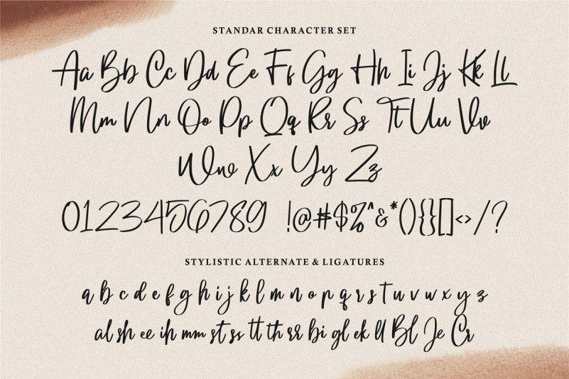 Gloryouss Script Font-2