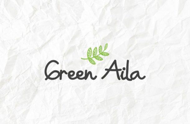 Green Aila Handwriting Font
