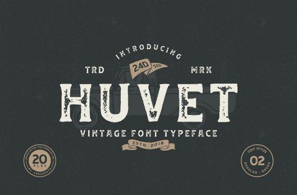 Huvet Vintage Font