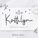 Kathlyn Signature Font