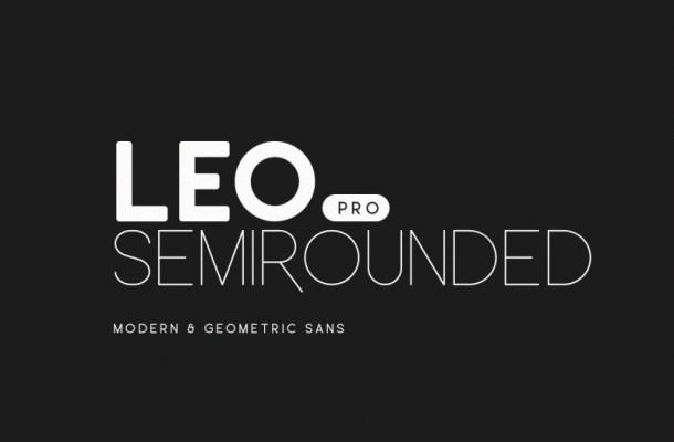 Leo Semi Rounded Pro Font