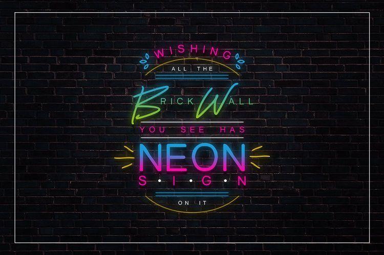 Lightsaber Neon Font-3