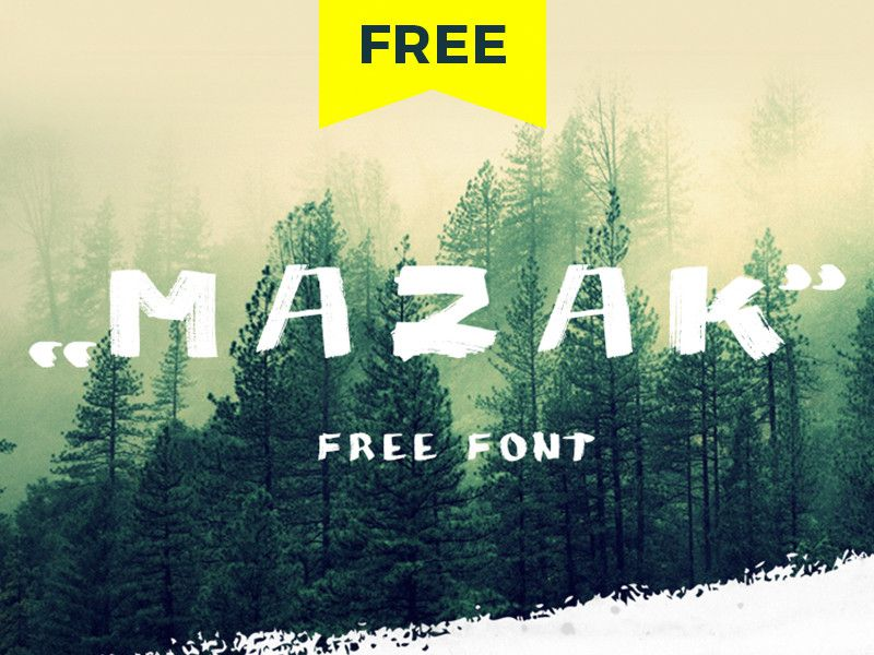 MAZAK Brush Font