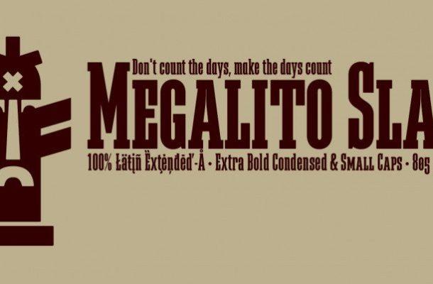 Megalito Slab & Small Caps Font