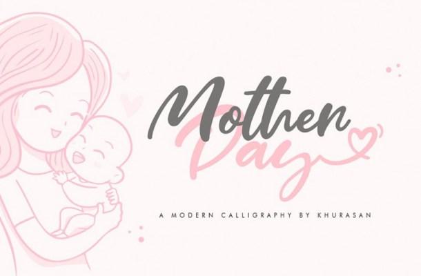 Mother Day Script Font
