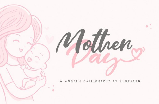 Mother Day Script Font