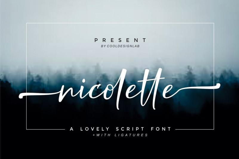 Nicolette Script Font