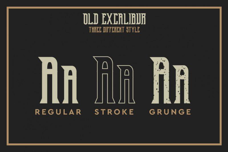 Old Excalibur Typeface-2