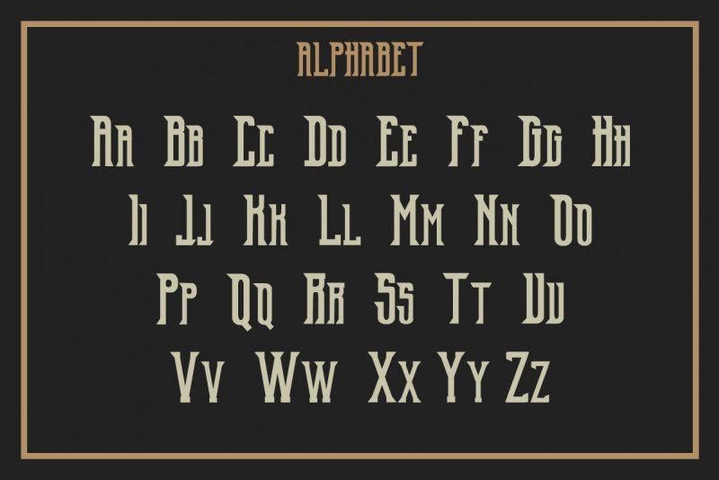 Old Excalibur Typeface-3