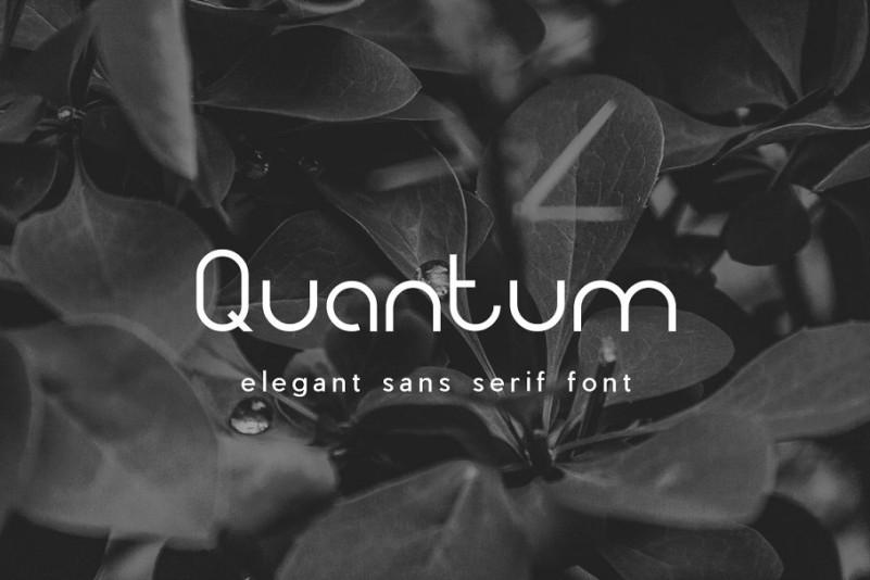 Quantum Sans Serif Font