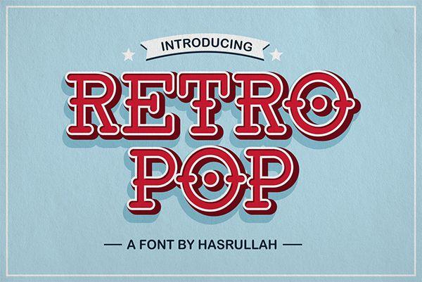 Download Retro Pop Font Family - Dafont Free
