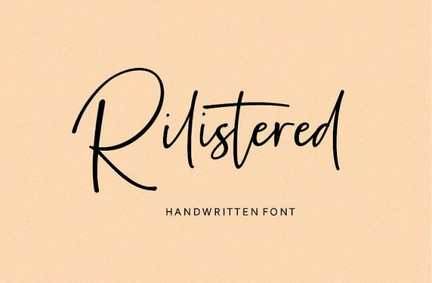 Rilistered Handwtitten Font