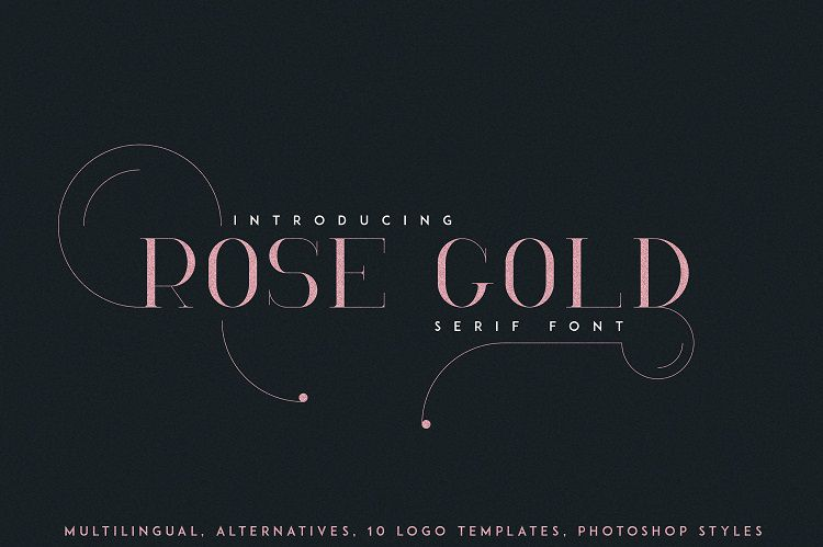RoseGold Serif Font