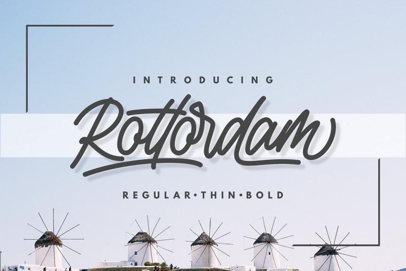 Rottordam Script Font