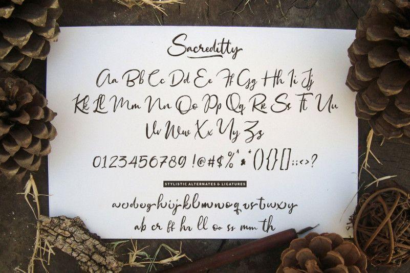 Sacreditty Handbrush Font-33