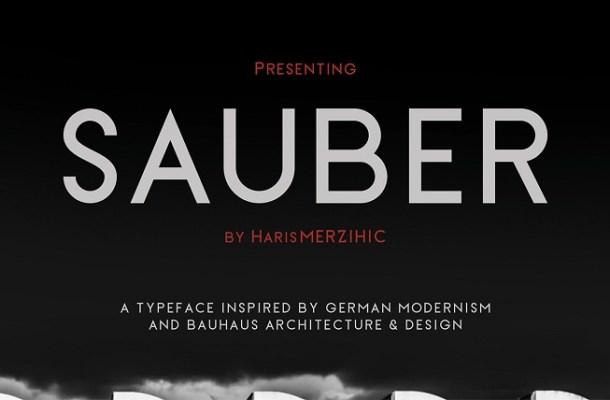 Sauber Typeface