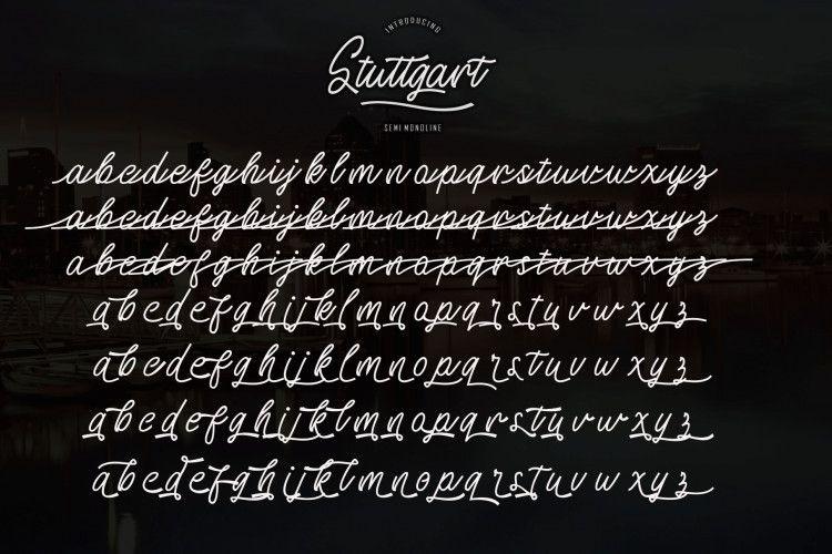 Stuttgart Handwritten Font-2