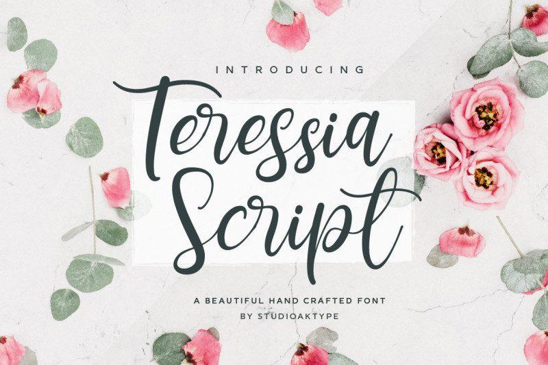 Teressia Script Font