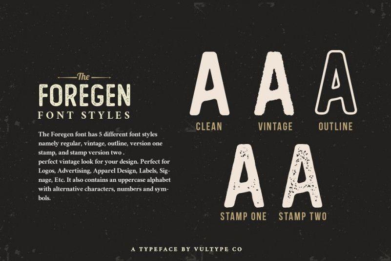 The Foregen Vintage Font-2